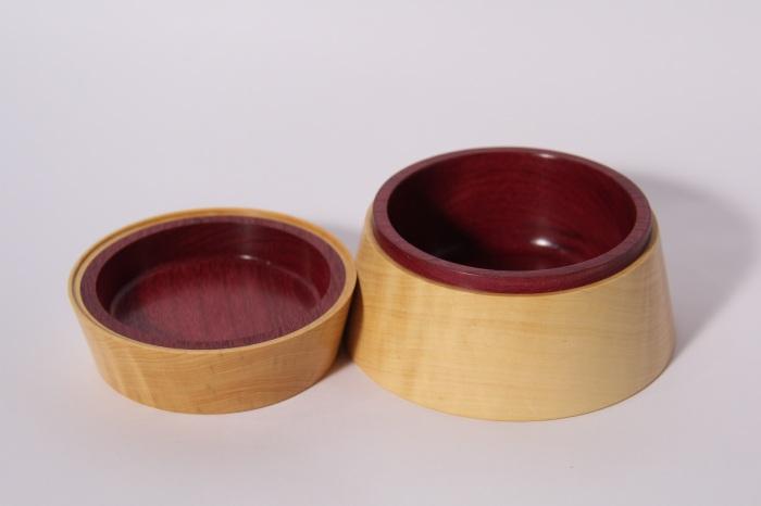 scatola tornitura artistica legno