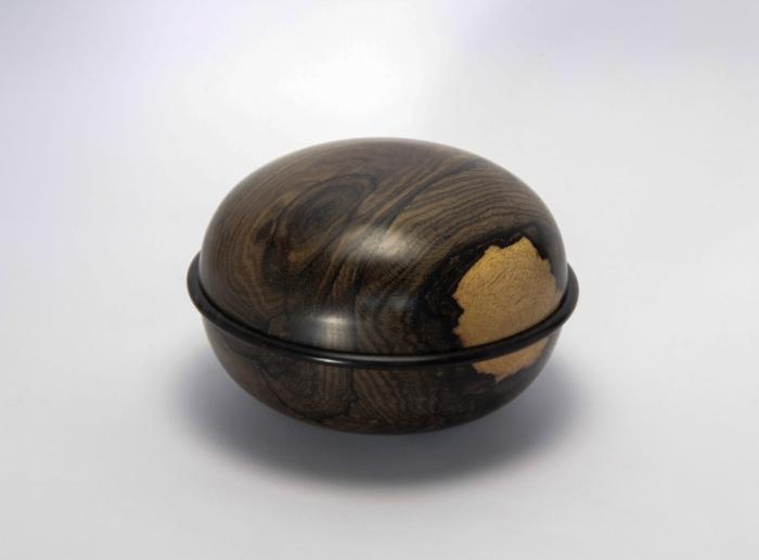 scatola in ziricote tornitura artistica legno